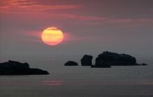 Perharidy au coucher de soleil