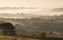 Paysage des Monts d'Arrées dans le brouillard (Botmeur)